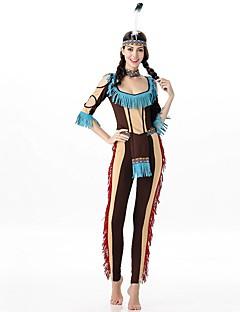 Schattig Princes Vrouwelijk Outfits Cosplay blauw Koude schouder Halve mouw Slip