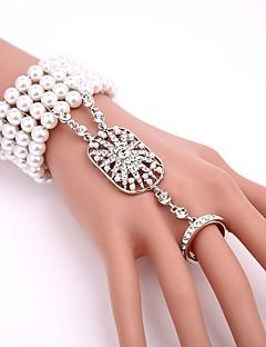 billiga Lolitamode-Mer accessoarer Söt Lolita Armband Glitter och glans Dam Flickor Svart Silver Rosa Brun lolita tillbehör Enfärgad Armband/Fotledsband