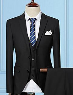 baratos -Masculino Ternos/Conjuntos Wear to work Trabalho Simples Outono,Sólido Longo Algodão Acrílico Decote V Manga Longa
