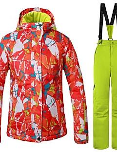 billiga Skid- och snowboardkläder-Dam Skidjacka Vindtät, Varm, Ventilerande Skidåkning / Multisport / Vintersport Polyester Klädesset Skidkläder