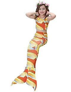 billige Halloweenkostymer-The Little Mermaid Skjørt Halloween Festival / høytid Halloween-kostymer Rød / Blå / Fuksia Havfrue Halloween
