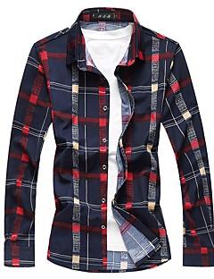 billige Herre Toppe-Herre - Ternet Bomuld Skjorte