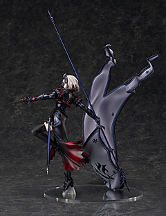 billige Anime cosplay-Anime Action Figurer Inspirert av Fate / Stay Night Jeanne d'Arc PVC CM Modell Leker Dukke Herre Dame