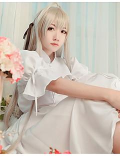 """billige Anime cosplay-Inspirert av Yosuga no Sora Kasugano Sora Anime  """"Cosplay-kostymer"""" Cosplay Klær Annen Kjole Sjal Til Dame"""
