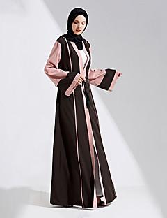 tanie Etniczne & Cultural Kostiumy-Moda Abaya Arabian Dress Damskie Festiwal/Święto Kostiumy na Halloween Black Jendolity kolor