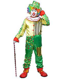 billige Halloweenkostymer-Burlesk/Klovn Sirkus Cosplay Kostumer Party-kostyme Unisex Karneval Festival / høytid Halloween-kostymer Regnbue Fargeblokk Fest/aften