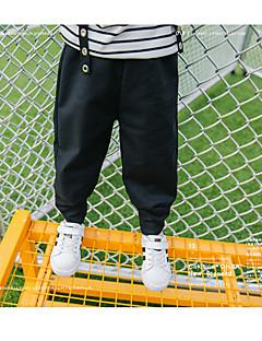 tanie Odzież dla chłopców-Spodnie Wełna Bawełna Len Włókno bambusowe Akryl Dla chłopców Codzienny Jendolity kolor Wiosna Prosty Black