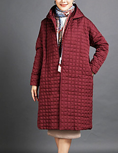cheap Women's Downs & Parkas-Women's Vintage Long Padded - Solid