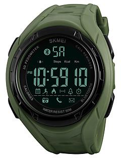 billige Digitalure-SKMEI Herre Digital Digital Watch / Armbåndsur / Sportsur Japansk Bluetooth / Kronograf / Vandafvisende / Fjernbetjening PU Bånd Afslappet