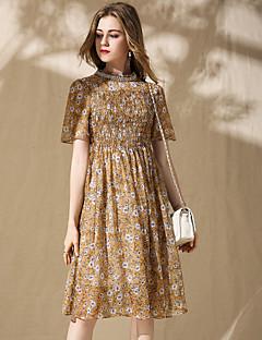 זול שמלות נשים-עומד מידי חרוזים, פרחוני - שמלה שיפון מתוחכם בוהו בגדי ריקוד נשים