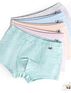 billige Undertøj og sokker til drenge-Drenge Undertøj Ensfarvet, Bomuld Alle årstider Simple Mikroelastisk Blå Brun Grøn