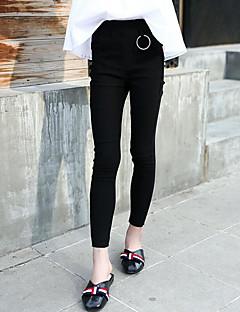 billige Bukser og leggings til piger-Pige Bukser Ensfarvet Simpel, Bomuld Forår Efterår Sødt Aktiv Sort