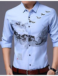 cheap Men's Shirts-Men's Business Slim Shirt Spread Collar