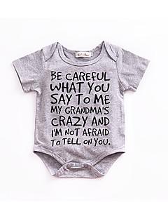 お買い得  赤ちゃんウェア-赤ちゃん 日常 ソリッド コットン ワンピース 夏 ハーフスリーブ シンプル グレー