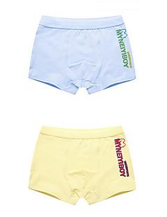 billige Undertøj og sokker til drenge-Drenge Undertøj Ensfarvet, Bomuld Alle årstider Mikroelastisk Grå Gul