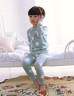 billige Undertøj og sokker til piger-Pige Nattøj Blomstret Blå Lyserød