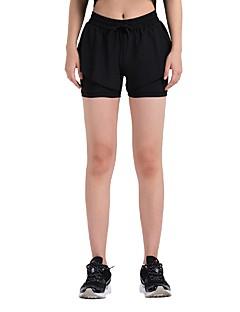 billiga Träning-, jogging- och yogakläder-Dam Joggerbyxor / Joggingshorts - Svart, Svart / Blå sporter Shorts Sportkläder