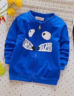 preiswerte Kapuzenpullover & Sweatshirts für Jungen-Jungen Bluse Druck Baumwolle Frühling Herbst Langärmelige Einfach Blau Grün Rote