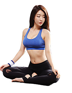 billiga Träning-, jogging- och yogakläder-Sportbehåar Vadderad Lätt stöd för Yoga - Fuchsia / Grå / Marinblå Snabb tork, Bärbar, Mateial som andas Dam Nylon