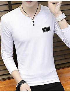 povoljno Muška moda i odjeća-Majica s rukavima Muškarci Print Okrugli izrez