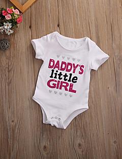 billige Babytøj-Baby Unisex En del Daglig Sport Ensfarvet, Bomuld Forår Sommer Kortærmet Simple Afslappet Basale Hvid Sort