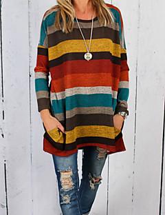 cheap Women's Tops-Women's Cotton T-shirt - Striped