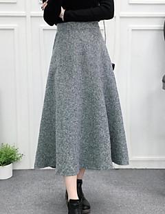 お買い得  レディーススカート-女性用 ペンシルベイト コットン スカート - ソリッド, レイヤード