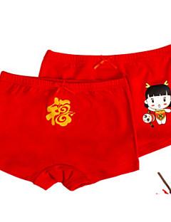 billige Undertøj og sokker til drenge-Pige Drenge Undertøj Ensfarvet Tegneserie, Bomuld Alle årstider Simple Mikroelastisk Rød Vin