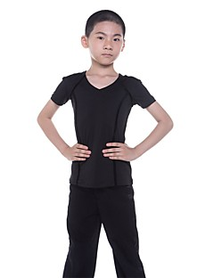 tanie Dziecięca odzież do tańca-Latino Topy Dla chłopców Wydajność Modalny Zgnioty Z krótkim rękawem Naturalny Top