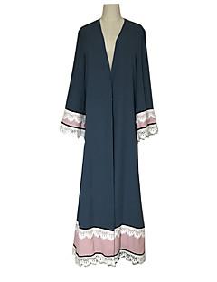 baratos Costumes étnicas e Cultural-Vestido árabe Abaya Mulheres Fashion Festival / Celebração Roupa Azul Sólido