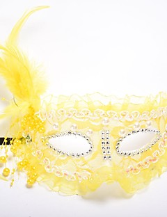 billige Halloweenkostymer-Klassisk Masquerade Mask Lilla Gul Rose Rød Hvit Plastikker Cosplay-tilbehør Halloween Maskerade