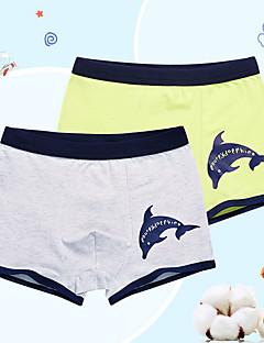 billige Undertøj og sokker til drenge-Drenge Undertøj Dyretryk, Bomuld Alle årstider Mikroelastisk Blå Grå