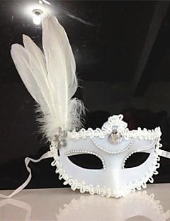ieftine -Clasic Masca Mascarada Negru Galben Alb Plastice Accesorii Cosplay Mascaradă