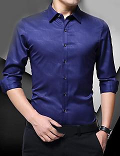 povoljno Muška moda i odjeća-Majica Muškarci Jednobojni Pamuk