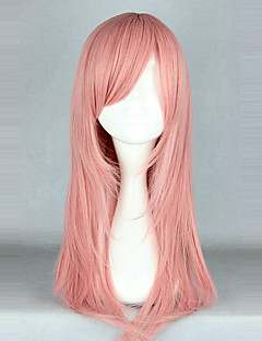 cheap Lolita Wigs-Cosplay Wigs Lolita Pink solid Lolita Wig 55 CM Cosplay Wigs Solid Wig For