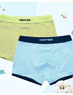 billige Undertøj og sokker til drenge-Drenge Undertøj Stribet, Bomuld Alle årstider Simple Elastisk Blå Gul