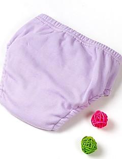 billige Undertøj og sokker til drenge-Unisex Undertøj Ensfarvet, Bomuld Forår Efterår Elastisk Grøn Hvid Lyserød Lilla Gul