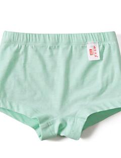 billige Undertøj og sokker til piger-Pige Undertøj Ensfarvet, Bomuld Alle årstider Simple Mikroelastisk Grøn Hvid Lilla Gul