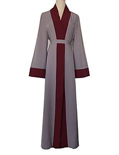 tanie Etniczne & Cultural Kostiumy-Arabska sukienka Abaya Damskie Festiwal/Święto Kostiumy na Halloween Stroje Szary Solidne kolory Moda