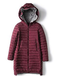 billige Overtøj til damer-Dame I-byen-tøj Sødt Bomuld Lang Vatteret - Ensfarvet