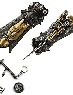 cheap Videogame Cosplay Accessories-Jewelry Badge Inspired by Assassin Cosplay Anime/ Video Games Cosplay Accessories Sword More Accessories Necklaces Brooch PU Leather PVC