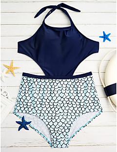 billige Bikinier og damemote 2017-Dame Grime Monokini Trykt mønster