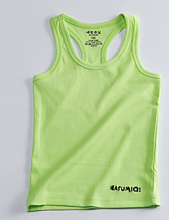 cheap Kids' Clothing-Girls' Solid Tank & Cami, Cotton Summer Sleeveless Simple White Light Green Light Blue Army Green Light gray