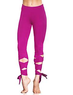 billige Løbetøj-Dame Løbetights Sport 3/4 Tights / Leggins Yoga, Løb Hurtigtørrende, Åndbart, Bekvem Elastisk Rose Rød, Army Grøn, Blå Ensfarvet