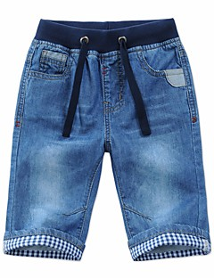 cheap Boys' Pants-Boys' Solid Pants Fall Blue