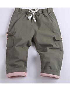 billige Drengebukser-Drenge Bukser Ensfarvet, Bomuld Bambus Fiber Spandex Forår Sødt Aktiv Army Grøn Lysegrå