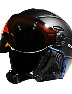 cheap -MOON Ski Helmet Unisex Adults' Ski / Snowboard Adjustable One Piece Helmet with Goggles Urban Ultra Light (UL) Sports Youth PC EPS CE