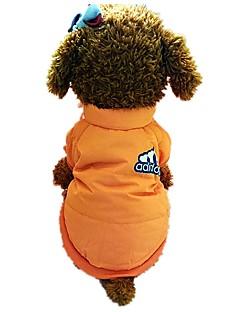 billiga Hundkläder-Hund Kalltätande kläder Hundkläder Bokstav & Nummer Orange Nylon fiber Kostym För husdjur Herr Dam Stilig Minimalistisk Stil