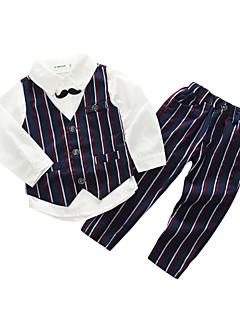 billige Tøjsæt til drenge-Drenge Tøjsæt Daglig Stribet, Bomuld Polyester Forår Langærmet Afslappet Sort