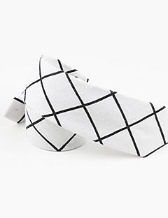 billige Slips og sløyfer-Herre Fritid Slips,Alle årstider Trykt mønster Bomull Hvit Svart Grå